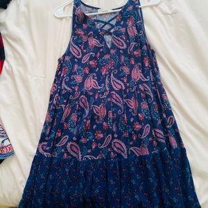 Short Navy Floral Dress!
